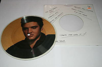 Elvis Presley very rare interview picture single - mint