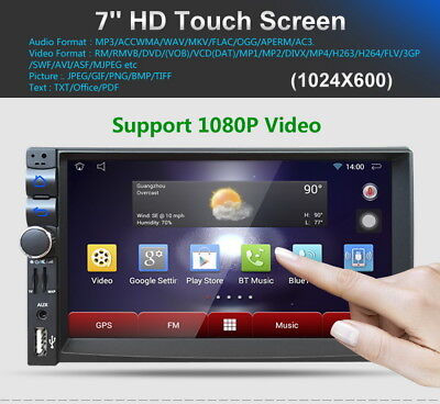 "7"" Doble 2Din Android Dual Core Coche Estéreo MP3 Reproductor GPS BT 3G WIFI FM"