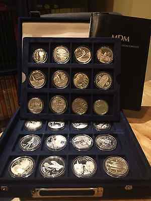 Set of 24 Official Euro Silver Proof Commemorative coin collection