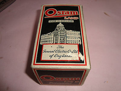 Vintage General Electric Co - Osram Light Bulb Box - Product Advertising 1940's?