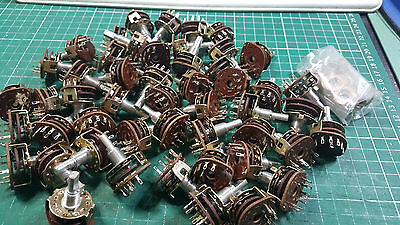 50 X  ALPHA ROTARY SWITCH 1 POLE 6 POSITION , ROTARY SWITCH JOBLOT , 6mm x 11mm