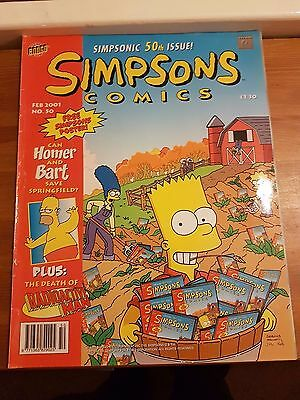 Simpsons Comics: Issue #50 (Feb 2001), #100 (Dec 2004), #78 300th Ep celebration