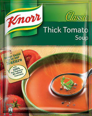 5 x KNORR CLASSIC THICK TOMATO SOUP POUCH 53g | Free Shipping