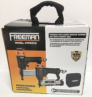 FREEMAN PPPBRCK Pinner and Brad Nailer Combo Kit with Carry Bag