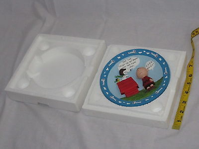 Peanuts Snoopy Charlie Brown WWI Flying Ace Danbury Mint 3-D Collectible Plate