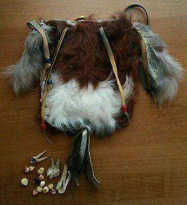 Early 20th Century Native American Shoshone Medicine Man Bag