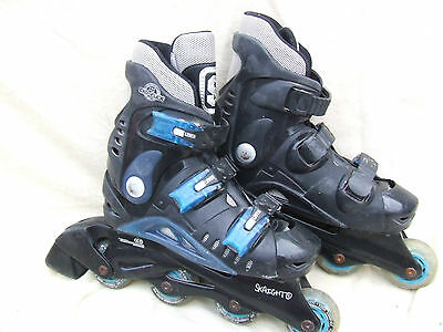 Skaight Inline Roller Skates,size 2 Uk,three Strap,padded Boot,hard Shell,clean