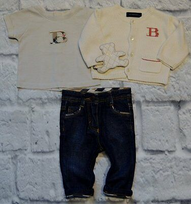 Burberry Baby Boy Or Girl Designer Clothes Bundle Cardigan T-shirt Jeans 3 Month