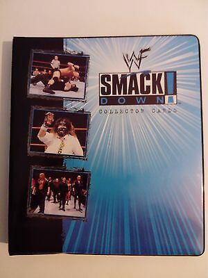 old wwf smackdown collectors folder with cards (wrestling wwe stone cold rock)