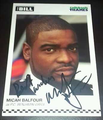 The Bill Micah Balfour Hand Signed Cast Card