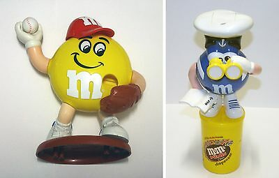 Lot of 2 M & M Candy Sweet Dispensers (Baseball and Sailor)