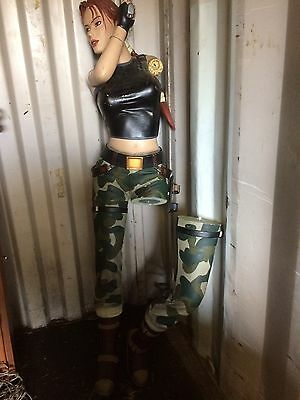 Lara Croft Actual Size Film Prop Damaged