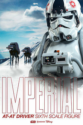 "NEW Sideshow Star Wars Imperial AT-AT Driver 12"" Inch 1/6 Figure MISB IN STOCK !"