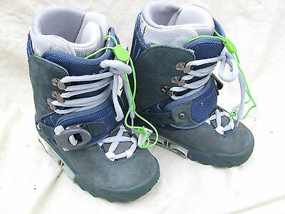 Burton Rulers Snow Board Boots,blue Suede,well Padded,size 4 Uk 37 Euro,v/g/c