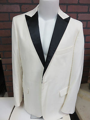 GLEE SCREEN USED Finn Off-White Tuxedo Jacket  STUDIO COA