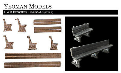 Great Western Railway Benches (Type B) 1:100 TT scale Flames of War compatible