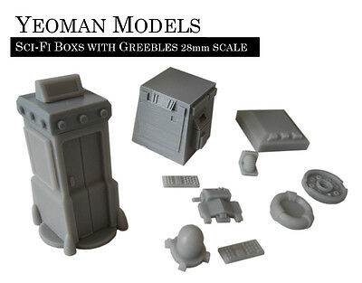 Customisable Sci-Fi Boxes with Greebles (suitable for 28mm)