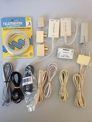 Lot of New & Used Telephone ADSL Fax Accessories Splitter Filter Jack Cable Plug