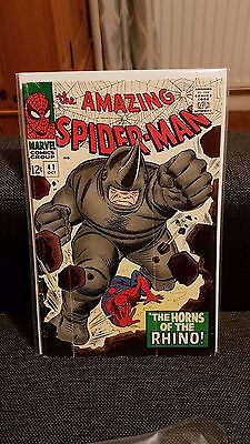 Amazing Spiderman 41 VG 1st Rhino