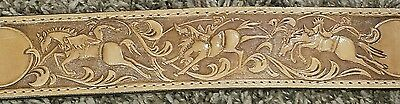#4 LEATHER BELT EMBOSSING ROLL BRONC RIDER SOLID BRASS VINTAGE TOOL 1980s USA