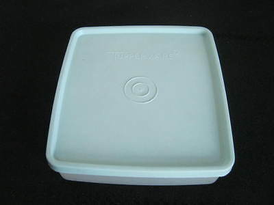 Vintage Tupperware Square Away Sandwich Keeper Container Mint Green Lid, 671-31
