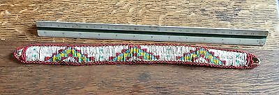 Very Old Native American Indian Beaded Headband