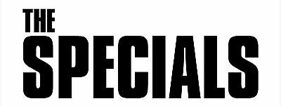 The Specials shaped logo vinyl sticker Special AKA 150mm x 50mm mod 2Tone