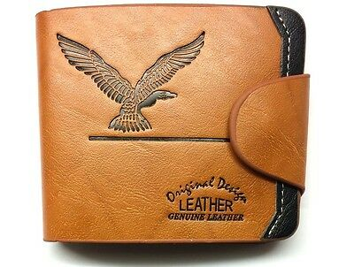 Mens Luxury Eagle Soft Quality Leather Wallet, Credit Card Holder, Purse