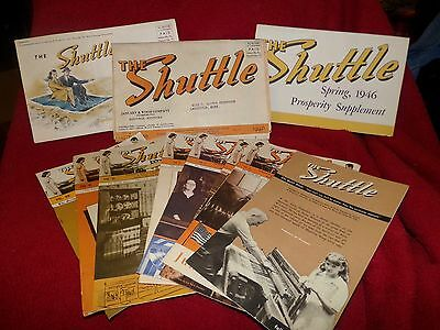 "Lot of ""The Shuttle"" newsletters 1942 to 1948 Maysville Guild of Home Weavers"