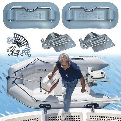 Weaver Boat Snap Davits RBD100 for dinghies, on swim platform, by Weaver Marine