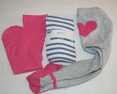 Lot of Baby Girl Tights Size 12-24 months & 9-18 months