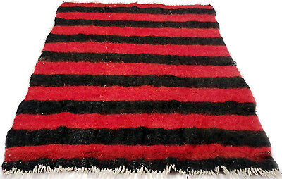 "Antique Vintage Unique Handmade Rug Hand-Knotted Thick  (54""x 81"") goat wool #60"