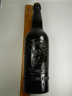 OLD UNION BREWING COMPANY NANAIMO, B. C. Canada. Green Glass Antique Beer Bottle