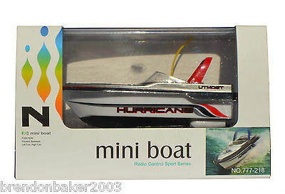 RC Red  Mini Speed Boat 1:64 Scale 27MHz  BARGAIN SALE PRICE