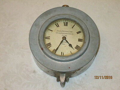 Vintage Chicago Watchman's Clock Co. Wallham 8 day for restoration