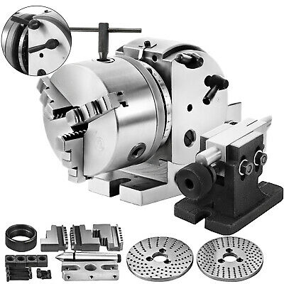 "BS-0 5"" Indexing Dividing Spiral Head 3-Jaw Chuck Tailstock CNC Milling New"