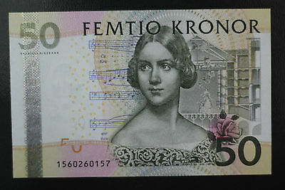 2008 Sweden  50 Kronor P64 New Uncirculated !!!