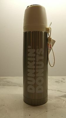 Dunkin' Donuts 16 oz. Stainless teel Vacuum Thermos w/White Lid