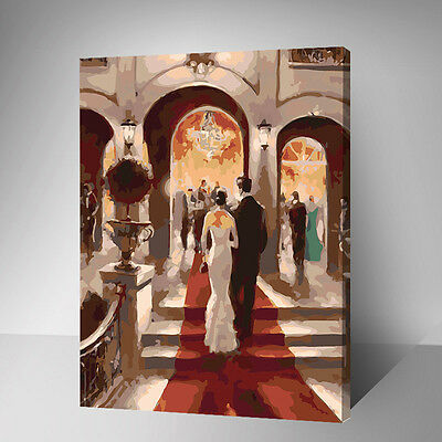 Framed Painting by Number kit Dress For Dinner Attending A Banquet Party YZ7427