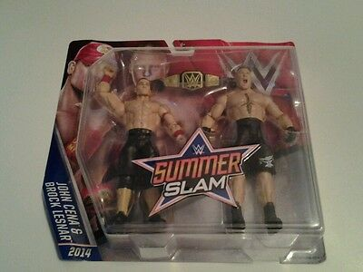 WWE Mattel Summerslam Battle Pack John Cena & Brock lesnar und OVP