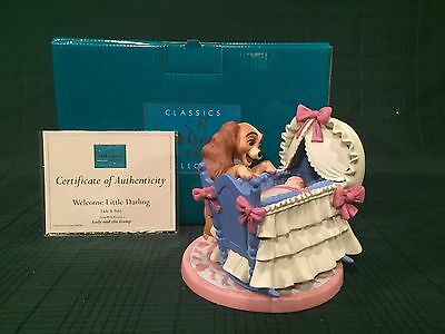 """WDCC Lady and The Tramp - Lady and Cradle """"Welcome Little Darling"""" New in Box"""