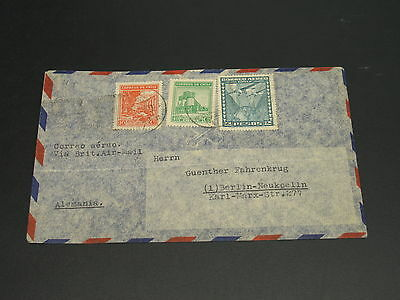 Chile 1949 airmail cover to Germany fold *9167
