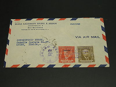 El Salvador 1949 airmail cover to Italy *9182
