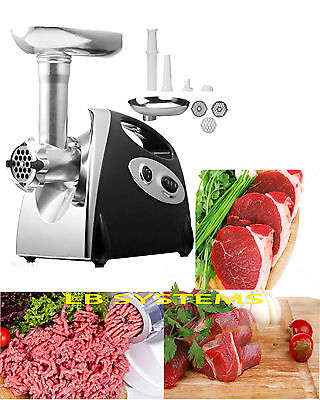 2000W Large Capacity Stainless Steel Electric Meat Grinder Mincer Sausage Maker