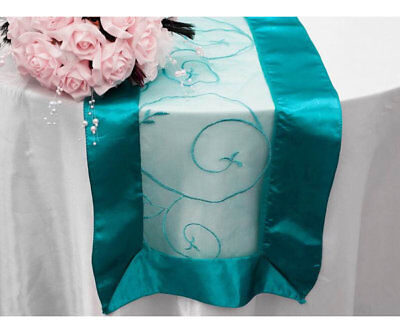 Wedding & Event - Table Runner (Embroidered) - Turquoise