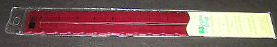 """12"""" Ruler Pattern Edge Ruby Red Anodised Metal Paper Craft Draw Style Zip 30cm"""