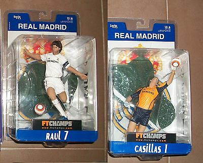 2 = 1 Iker Casillas  Real Madrid + 1 Raul  Ft Champs Ftchamps Figure 15Cm Muñeco
