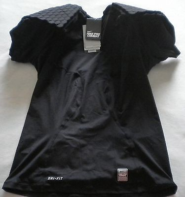Nike pro competition base layer shirt combat compression padded NFL packers blk