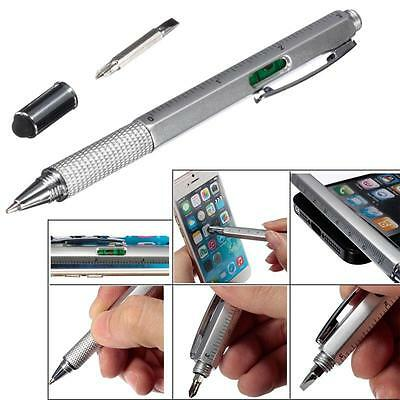 Gadget Pen   Penna Gadget Multiuso 6 in 1 touch pen livella Righello Cacciavite