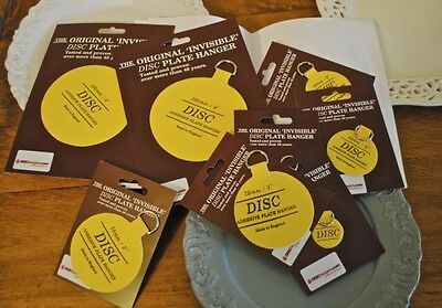 Plate Picture Hanger Disc Self Adhesive Stick on Invisible Hook 5 new Sizes
